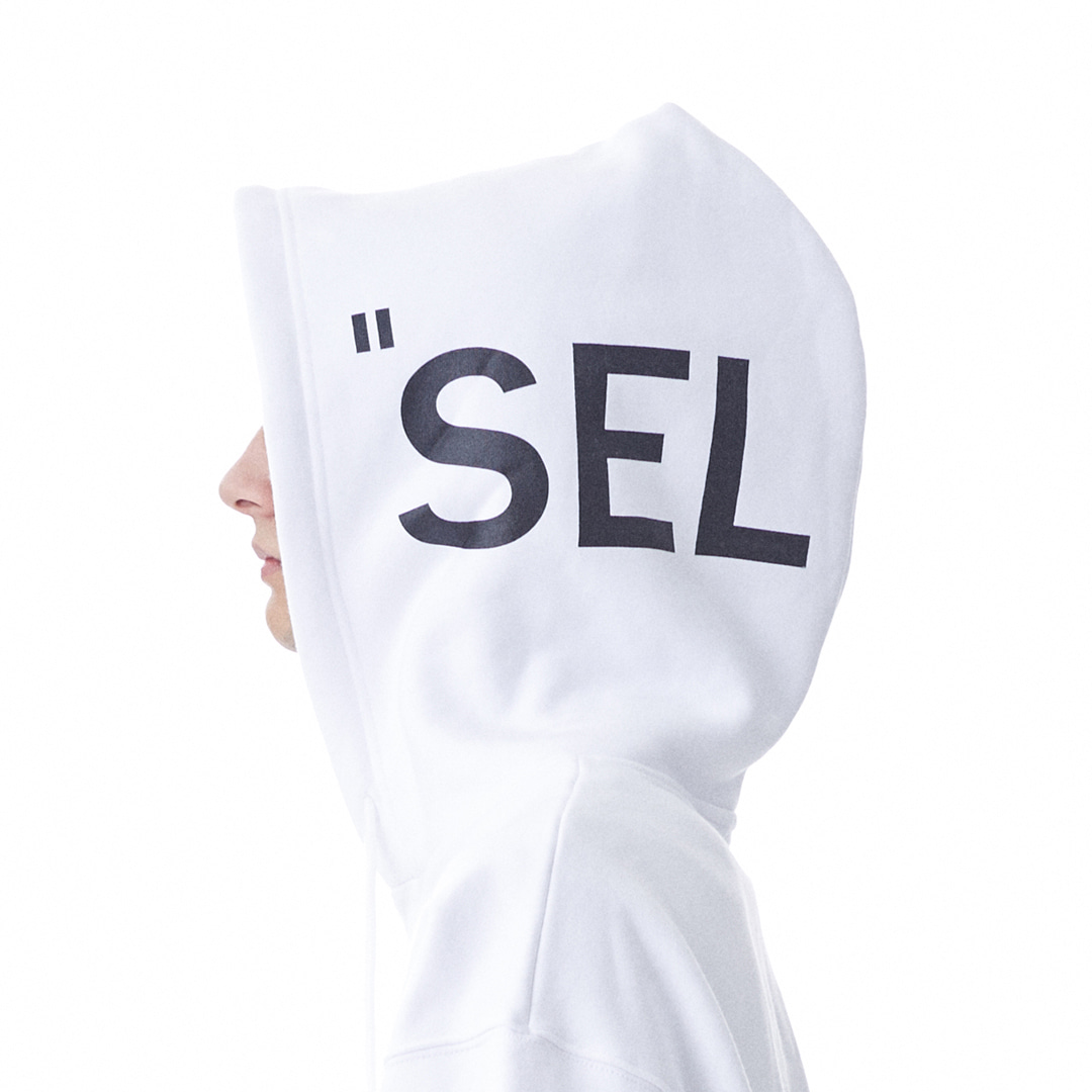 """SELECT"" Sweat Hoodie (White)"
